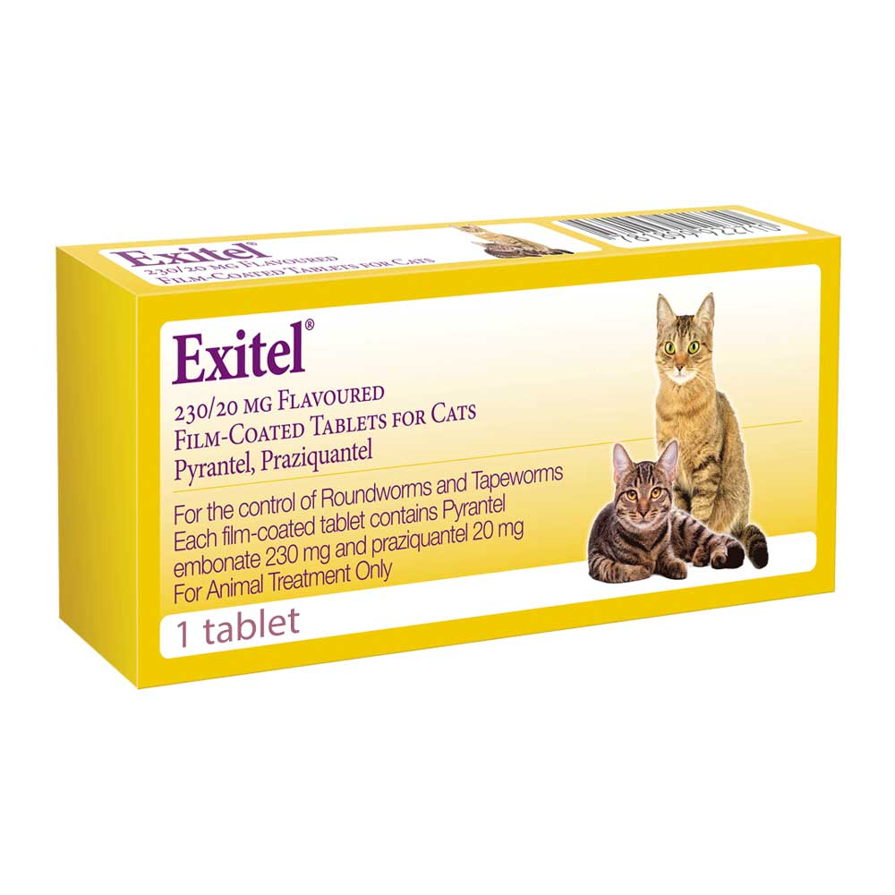 Exitel Plus Flavoured Worming Tablet for Cats