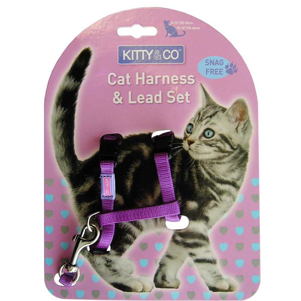 Kitty & Co Adjustable Cat Harness and Lead Set
