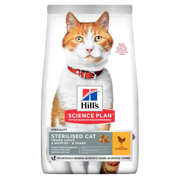 Hills Science Plan Young Adult Sterilised Cat Chicken