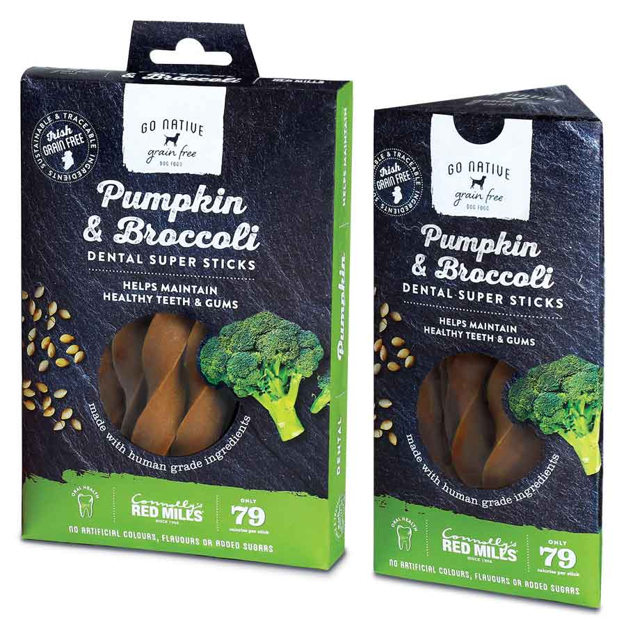 Red Mills Go Native Pumpkin & Broccoli Dental Sticks